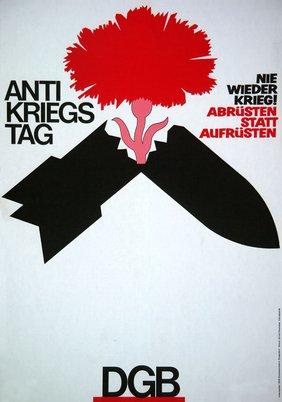 Plakat Antikriegstag 1984