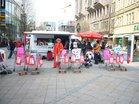 Rote Taschen zum Equal-pay-day 2011 in Dortmund